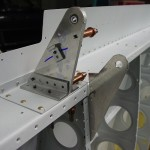 Left wing aileron & flap brackets drilled