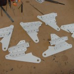 Flap brackets ready for installation