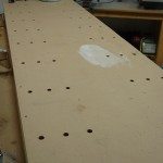 Table with holes for clecoes