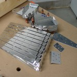 Right flap parts disassembled